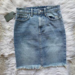 NWT AllSaints Kim Distressed Denim Midi Skirt 2